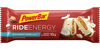 Powerbar Ride Energy Bar Box Con 18 Barrette da 55g Gusto Cocco-Caramello