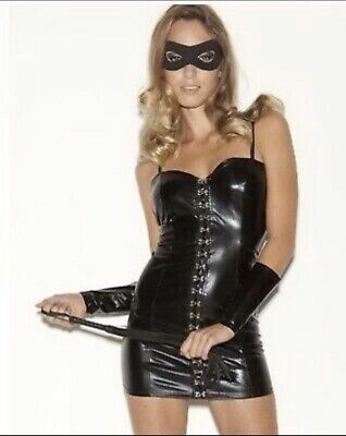 Ann Summers Miss Dominate Me PVC Outfit Size 10