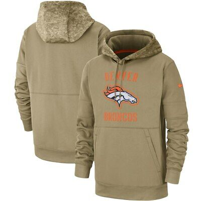 Men's Denver Broncos Nike 2018 Salute to Service Sideline Therma Performance Pullover Hoodie Olive