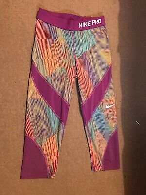 Nike Pro Gym Leggings. Cropped. Size L/G Aged 14-16 Years. (can Also Fit Size 6)