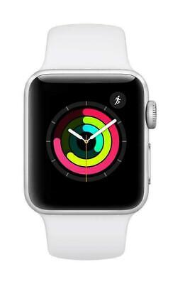 Apple Watch Series 3 38mm Silver Aluminum With White Sport Band GPS - MTEY2LL/A