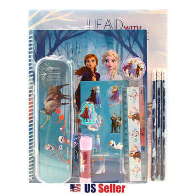 Disney Frozen 2 All-in-One Value Pack 11pcs Stationery Gift Set w/Pencil Case