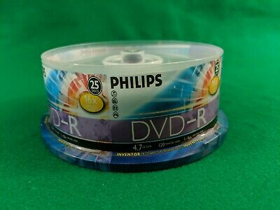 25-pk Philips branded 8x DVD+R Double Dual Layer 8.5GB DL Blank Recordable Disk