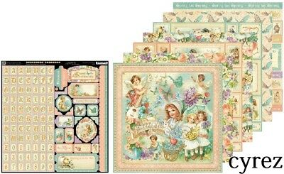 Graphic 45 Sweet Sentiments 7 different sheets & 1 Sticker Sheet Rare & Retired