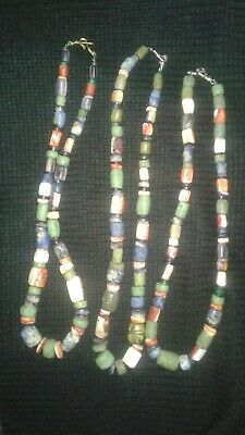 3 three Chavin-Moche PreColumbian  Beads necklace,Chavin, Chimu,Maya, chimu