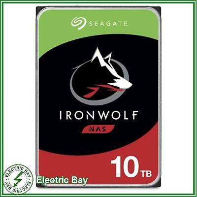 "Seagate IronWolf 10TB 3.5"" SATA Internal Hard Disk Drive NAS HDD 7200RPM 256MB"
