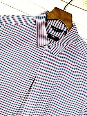 ⭐ Mens PAUL SMITH The Byard Italy premium striped formal shirt size 42 / 16.5