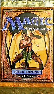 MTG - factory sealed English language Fifth Edition booster pack