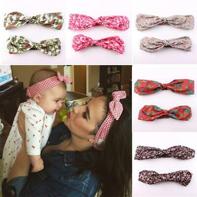 Headwear Floral Flowers Girls Hair Band Mother & Baby Headband Turban Bow Knot