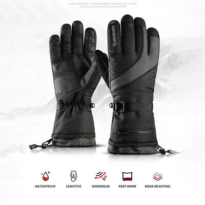-40℃ Waterproof Winter Thermal Ski Gloves Touchscreen Snow Warm Snowboard Hiking