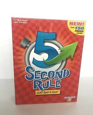 5 Second Rule Card Game by PlayMonster - Ages 10+