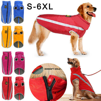 Waterproof Pet Dogs Clothes Autumn Winter Warm Padded Coat Vest Jacket Apparel