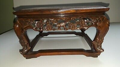 Antique Chinese Old Hardwood Finely Carved  Stand Fantastic Display Piece L@@k!!