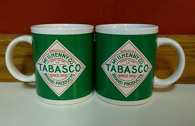 Tabasco Hot Sauce Coffee Cup Set of 2 Matching