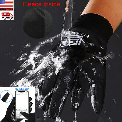 Men Women Winter Warm Gloves Touch Screen Outdoor Driving Windproof Waterproof