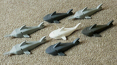Lego New Dark Bluish Gray Sawfish with Gills with Black Eyes and White Pupils