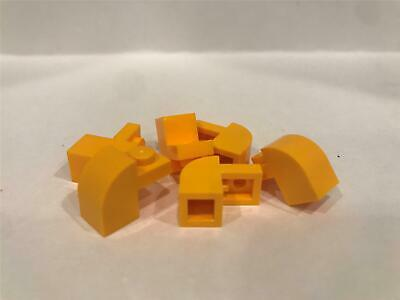 LEGO Bright Light Yellow Brick Modified 1x2x1 1//3 Curved Top Lot of 100 Parts Pi