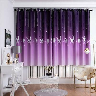 Bedroom Thermal Blackout Curtain Ring Top Eyelet Insulated Window Curtains ONE