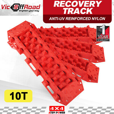ATEM POWER Recovery Tracks Sand 10T With Carry Bag Offroad 2Pairs 4WD RED