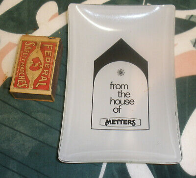 Metters Australia ..Stoves,ovens etc. vintage glass Advertising dish/ashtray