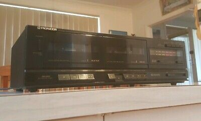 Vintage Pioneer Double Cassette Tape Deck/Made In Japan