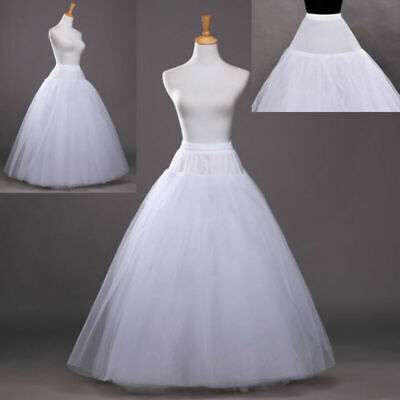 Beauty 3 Layer Bridal Underskirt Petticoat Crinoline 1 Hoop Long Wedding Dresses