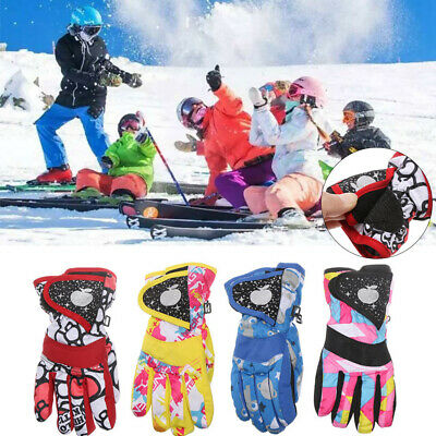 Children Winter Snow Warm Gloves Ski Snowboard Riding Waterproof Thicken Mitten