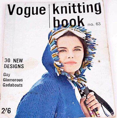Vogue Knitting Pattern Book Magazine Autumn Fall Winter  1963 - 30 Patterns