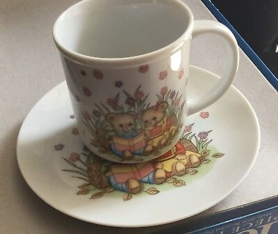Vintage Rare Porcelain Cup And Plate by Shibata