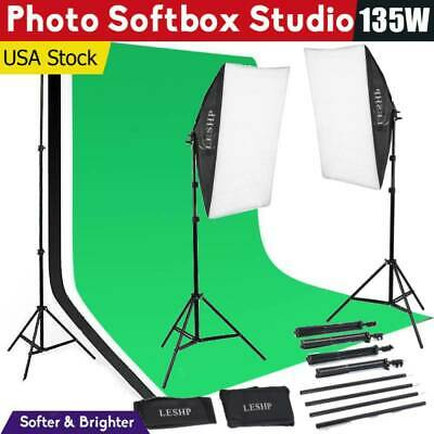LESHP Photo Studio Continuous Lighting Kit Photography Softbox Light Stand USA