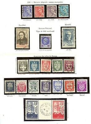 Timbres France Annee Complete 1942 N° 538 A 567 Obliteres