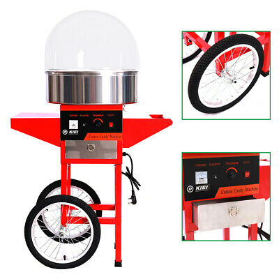 Electric Cotton Candy Machine Maker Cart Sugar Candy Floss Builder Commercial UK