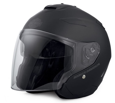 Harley-Davidson® Maywood Sun Shield 3/4 Helmet Matt Black 98347-17Ex Xl