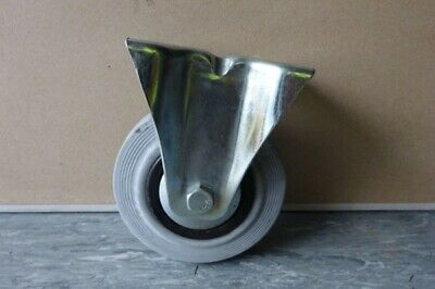 Trolley Wheel Caster / Castor - Used - 125mm Diameter - Fixed Top Plate