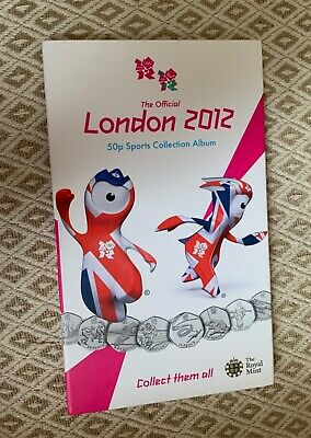 Official London 2012 Olympic 50p Coin Collection Album  Medallion