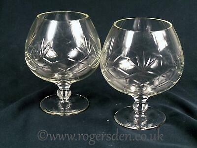 Crystal Glass  A Pair of Large Brandy Balloons  or Glasses