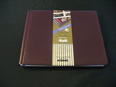 Webway Classic Leather Brown Scrapbook Photo Album 11 x 14 Expandable NEW
