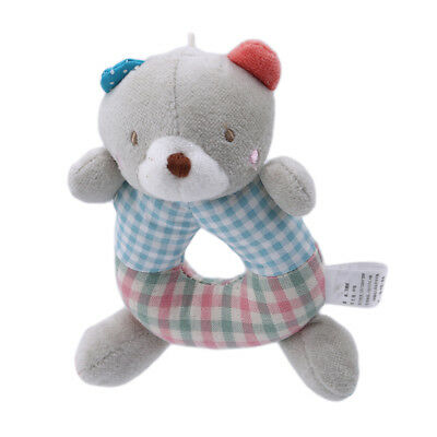 Elephant Squirrel Baby Infant Rattles Soft Plush Educational Rattles Toy one