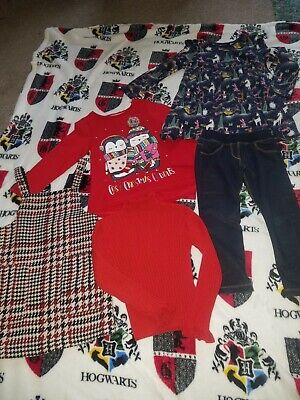 Girls Christmas Top Dress Pinafore Jumper Next 4-5 Years Excellent Condition.