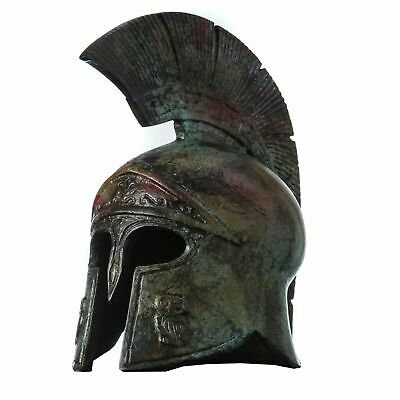 Ancient Greek Helmet Bronze Museum Replica Vintage Athena Battle Collectable 8 ""