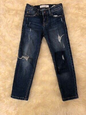 Zara Girls Casual Collection Size 5 Years 110cm Girls Ripped Patch Jeans