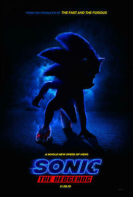 D-262 Sonic the Hedgehog Movie Poster 24x36 32x48 2020 Speed Hero Art