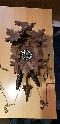 Antique Wooden Cuckoo Clock in good working order - 1day