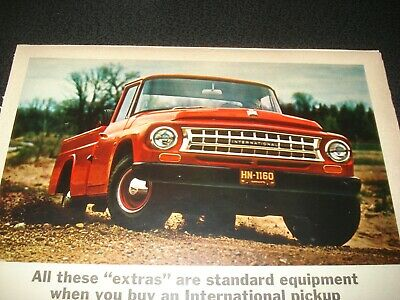 1964 LARGE Print Ad of International Harvester IH Pickup Truck 1965