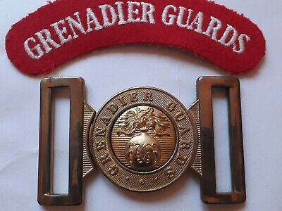 GRENADIER Guards Brass Belt Parade Buckle Locket Original new/Old stock + TITLE