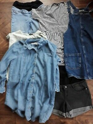 Bundle Of Maternity Clothes Size 16 Hardly Worn Denim New Look Asos 6 items!!