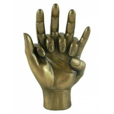 HANDS ENTWINED Cold Cast Bronze Sculpture Engagement Wedding Anniversary #07000