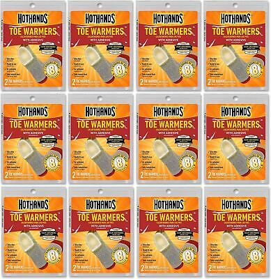 HotHands Toe Warmers - Long Lasting Odorless Air Activated Warmers - 12 Pairs