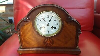 antique/vintage japy freres inlaid french mantle clock