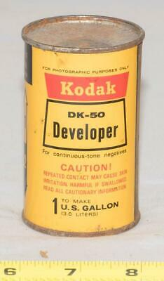 Vintage Kodak DK-50 Developer Continuous-Tone Negatives Tin Can Sealed